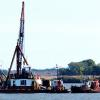 DIDAPPER 9, part of dredging operation in Delaware City channel.