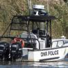 DNR Police boat docked at Delaware City.
